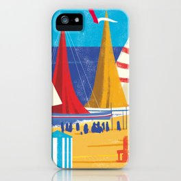 Sailboats on the Beach iPhone Case