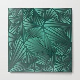 DOODLE GREEN PATTERN Metal Print
