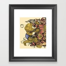 The Thing Vs. The Thing Framed Art Print