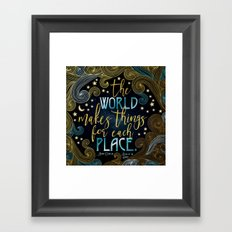 Rebel Of The Sands - For Each Place Framed Art Print