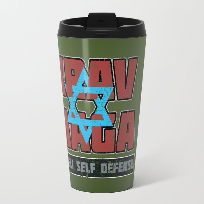 Israeli Krav Maga Magen David Travel Mug