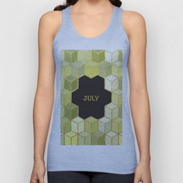 Cubes Of July Unisex Tank Top