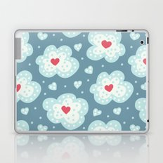 Winter Hearts And Snowy Clouds Laptop & iPad Skin
