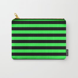 Stripes Green & Black Carry-All Pouch