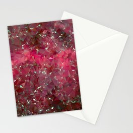 Pink Galaxy Low Poly 31 Stationery Cards