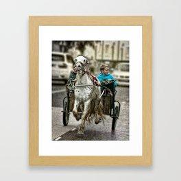 Gypsy Boys and Horse at Appleby Framed Art Print