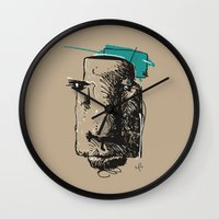 totem Wall Clocks featuring Totem by Mauricio Cosío