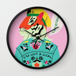 I'm not a girl Wall Clock