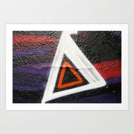 Double Triangle  Art Print