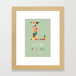 Baby Name Print Framed Art Print