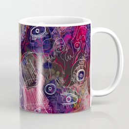 Pink Morning Street Art Graffiti Art Coffee Mug