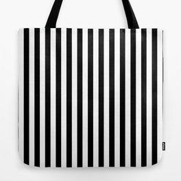 Stripe Black & White Vertical Tote Bag