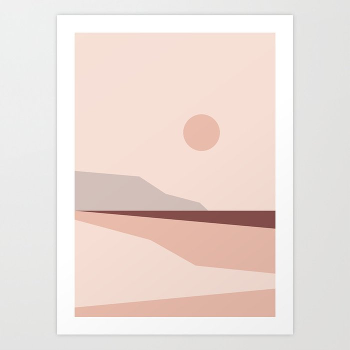 Abstract Landscape 02 Art Print