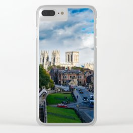 York City Walls and Minster Clear iPhone Case