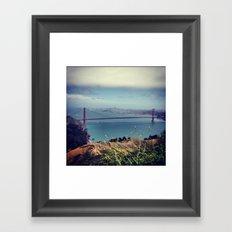 Above the Golden Gate Framed Art Print