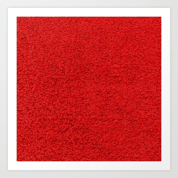 Rose Red Shag pile carpet pattern Art Print