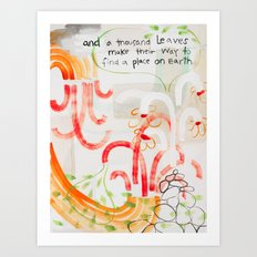 And A Thousand Leaves Make Their Way (No.12) Art Print