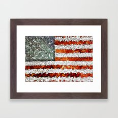 American Flag Abstract Framed Art Print