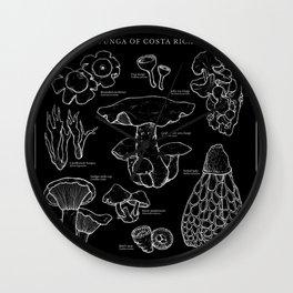 Funga of Costa Rica [Black] Wall Clock
