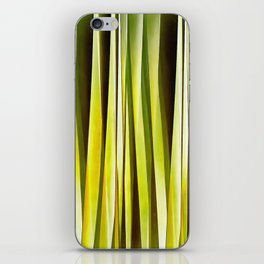 Yellow Ochre and Brown Stripy Lines Pattern iPhone Skin
