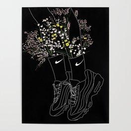 Flowers sneakers Poster