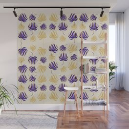 Fan Palm Tropical Pattern Leaves Wall Mural