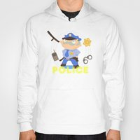 police Hoodies featuring Police by Alapapaju