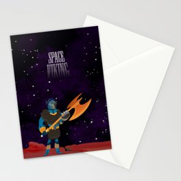 Space Viking (in Space) Stationery Cards