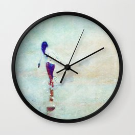Gone Surfing Wall Clock
