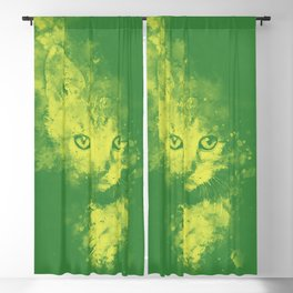 abstract young cat wsgy Blackout Curtain