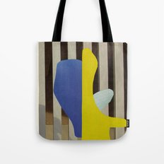 Blue and white creature Tote Bag