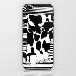 Black and White Elephant Feet iPhone Skin