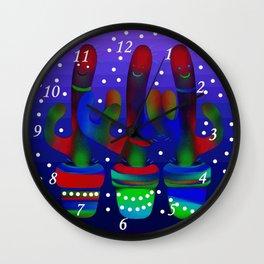 Cactus Rainbow 03 Wall Clock