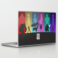 big hero 6 Laptop & iPad Skins featuring The Big Hero 6 by Travis Love