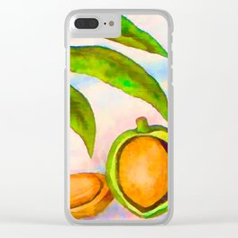 Branch of an almond tree in autumn Clear iPhone Case