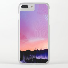 Glitched Landscapes Collection #7 Clear iPhone Case