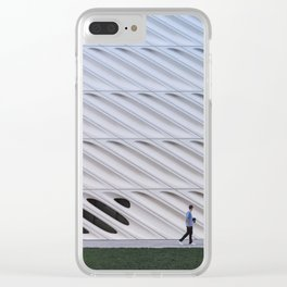 Walking the Broad in Los Angeles Clear iPhone Case