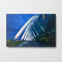 Massive Arches @ Flower Dome, Gardens By The Bay, Singapore. Metal Print