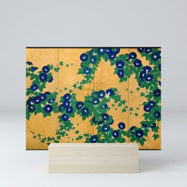 Japanese Art Print - Suzuki Kiitsu - Morning Glories B (1810s) Mini Art Print