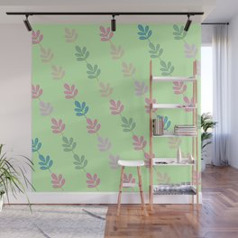 Flowers on Vine - Green Branches Wall Mural