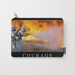 Courage: Inspirational Quote and Motivational Poster Carry-All Pouch