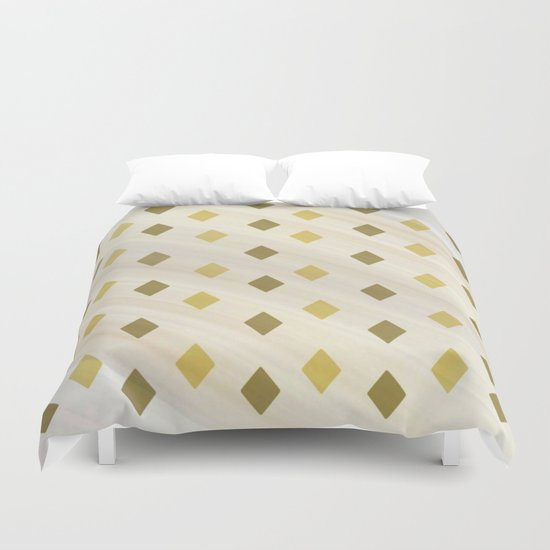 Shades Of Diamonds Abstract Duvet Cover