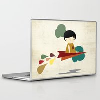 be brave Laptop & iPad Skins featuring Brave by yael frankel