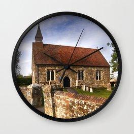 St Mary The Virgin Ebony Wall Clock