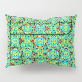 Kaleidoscope Quilt 2 - Green Pillow Sham
