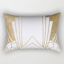 Art Deco design - blonde Rectangular Pillow