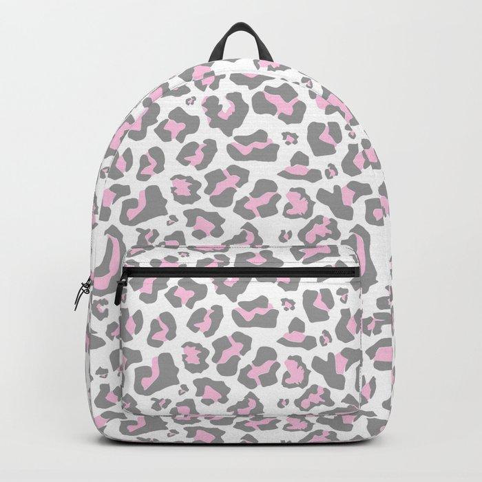 47b24bf70347 Pastel pink gray vector modern cheetah animal print Backpack by ...