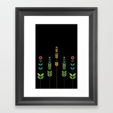 Simple Flowers Framed Art Print