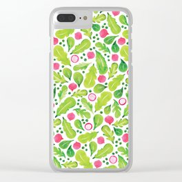 Green Salad pattern Clear iPhone Case