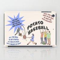 potato iPad Cases featuring Potato Baseball by Gas Station Burrito